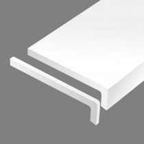 Окапница надворешна бела 350mm